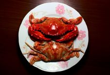 Free Cooked Crab Royalty Free Stock Photography - 16399697