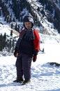 Free Boy And Winter Mountains Stock Photo - 1642140