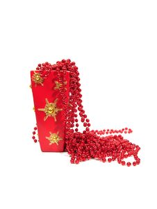 Free Red Christmas Decorations In Beautiful Vase Over White Stock Photography - 1640712