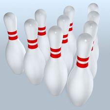 Free Bowling Pins Stock Image - 1644381