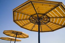 Free Parasols On A Blue Summer Sky. Royalty Free Stock Image - 1644666
