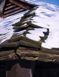 Free Snow Topped Roof Detail Stock Photos - 1645203