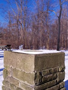 Free Winter Water Fountain Stock Image - 1645231