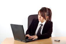 Free Business Woman At Desk 9 Stock Image - 1645341