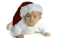 Free Baby In Santa Hat Royalty Free Stock Photos - 1645358