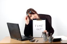 Free Business Woman At Desk 6 Stock Image - 1645471