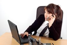 Free Business Woman At Desk 10 Royalty Free Stock Images - 1645479