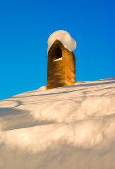 Snow Chimney Royalty Free Stock Photo