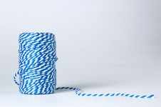 Free Winded Blue And White Cord Stock Photo - 1646000