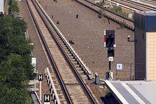 Rapid-transit Railway Yard Beusselstrasse Stop Signal Stock Photo