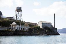 Buildings On Alcatraz - The Rock Stock Photography