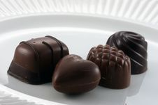 Free Chocolates On A Plate Royalty Free Stock Photography - 1646947