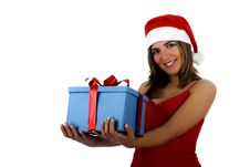 Free Santa Girl With Gifts Stock Photos - 1647103