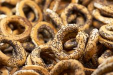 Free Bagels With Poppy Seeds Royalty Free Stock Photo - 1647105