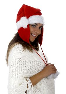 Free Christmas Woman Royalty Free Stock Image - 1647186
