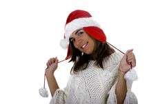 Free Christmas Woman Stock Photo - 1647210