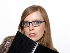 Girl With Agenda Stock Photography