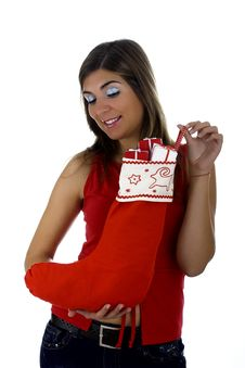 Free Christmas Woman Stock Images - 1647214