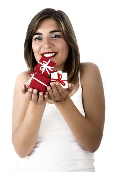 Free Christmas Woman Stock Image - 1647301