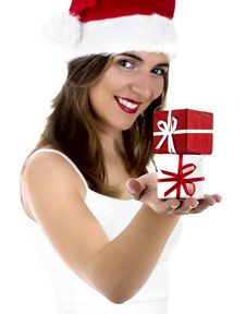 Free Christmas Woman Royalty Free Stock Photos - 1647328