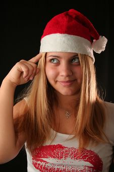 Free Christmas Girl Stock Images - 1648104