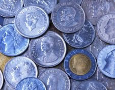 Free Close Up Of International Coins Stock Images - 1648774