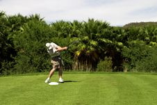 Free Golfer Hitting The Ball. Stock Photography - 1649252