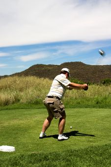 Free Golfer Hitting The Ball. Stock Image - 1649261