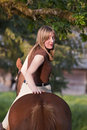 Free Woman Riding Her Horse Bareback Royalty Free Stock Image - 16401846