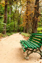Free Benches In The Park Stock Photo - 16405830
