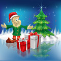 Free Christmas Tree And Dwarf With Gifts Royalty Free Stock Photo - 16407295