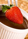 Free Strawberry In Chocolate Royalty Free Stock Photo - 16409435