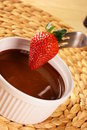 Free Strawberry In Chocolate Stock Photography - 16409832