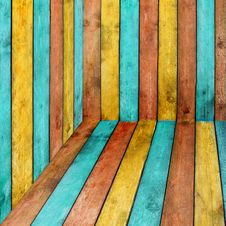 Free Colorful Wood Background Royalty Free Stock Images - 16400049