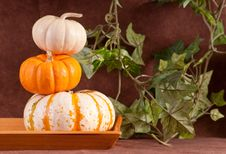 Free Pumpkin Stack Royalty Free Stock Image - 16400306