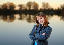 Free Girl With Crossed Arms Royalty Free Stock Photos - 16400428