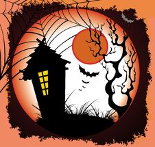 Free Halloween Night Background Stock Photography - 16401432