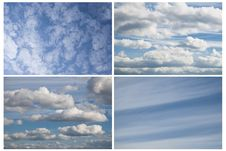 Free Blue Sky With Clouds Royalty Free Stock Images - 16401439