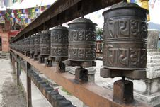 Free Prayer Wheels 2 Royalty Free Stock Image - 16402266