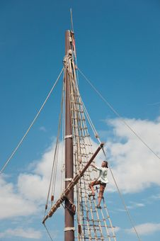 Free Mast Of The Replica Of A Columbus S Ship Stock Photo - 16402860