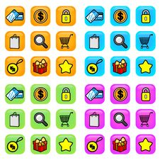 Free Shopping Icons Stock Images - 16403194