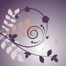 Free Floral Design Vector Stock Photography - 16403202