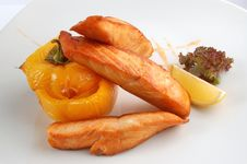 Free Fried Fish With Vegetables Stock Photo - 16403530