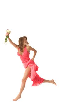 Free Sexual Woman With Flowers Stock Photo - 16404220