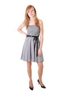 Free Girl In Black White Dress. Royalty Free Stock Photography - 16404727