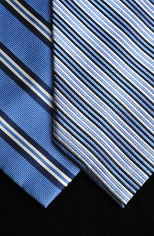 Free Two Blue Ties Stock Photos - 16404733