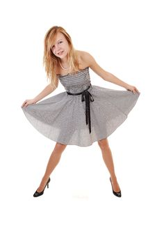Free Girl In Black White Dress. Royalty Free Stock Photo - 16404735