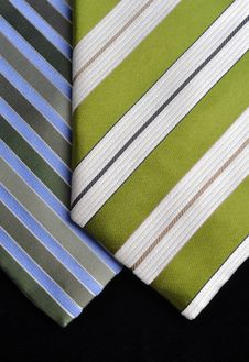 Free Two Ties In Green Tones Stock Photos - 16404823