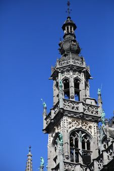 Free The Tip Of King S House At Grote Markt, Brussel Stock Photography - 16405282