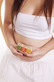 Free Pregnant Blocks Boy Top Stock Image - 16405561